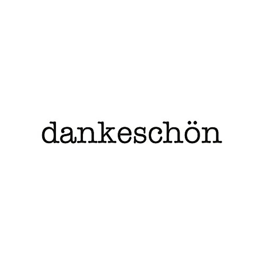 Rayher 29097000 Wood Mounted Rubber Stamp Featuring The Phrase Dankeschoen, Stamps for Crafting, Card Making and Scrapbooking, 1cm x 6cm, Thank You