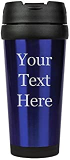 Customized 3D Laser Engraved Personalized Stainless Steel Custom Travel Mug without Handle (Blue)