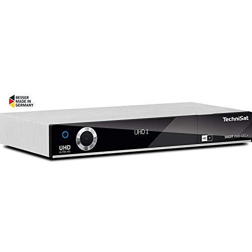 TechniSat DIGIT ISIO STC+ - UHD Receiver mit Twin Tuner (Sat DVB-S/DVB-S2, Kabel DVB-C, DVB-T2 HD, App Steuerung, PVR Aufnahmefunktion, HDMI, WLAN, LAN, CI+, USB 3.0, 6 Monate HD+) silber