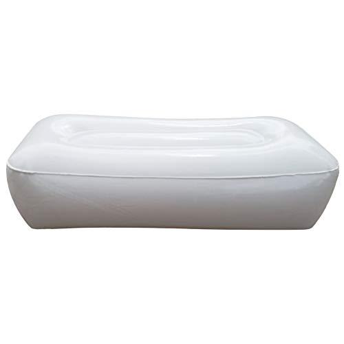 LIOOBO aufblasbare sitzkajak Kissen sitzkissen verdicken feuchtigkeitsdicht Angeln Kissen Sitz für Boot Outdoor Camping (weiß)
