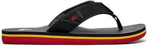 Quiksilver Molokai Abyss, Zapatos de Playa y Piscina Niños, Verde (Green/Black/Green Xgkg), 28 EU