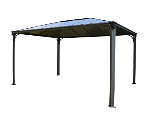 Palram Martinique 4300 Gartenpavillon: Höchst widerstandsfähig, Hardtop Pavillon 430 x296 cm. Robuste Aluminiumkonstruktion Mit Dach Aus Polycarbonat. Ideal Als Freistehende Überdachung