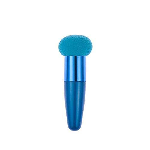 YWAWJ Dry Wet Double-Usage Marque New Pieces Mini Mélange Maquillage Éponge avec Poignée Flawless Lisse Ronde Forme Poudres Puffs Fondation Applicateurs (Color : Blue)
