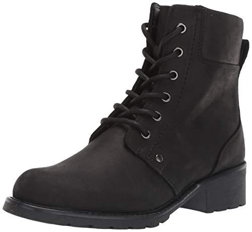 Clarks Women's Orinoco Spice Ankle Boot, Black Leather, 8