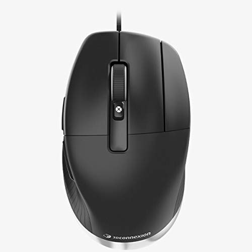 3Dconnexion CadMouse Pro Mouse - Optical - Cable - 7 Button(s) - Black