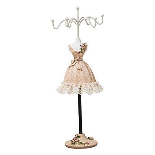 MoGist Schmuckständer Mode Prinzessin Kleid Form Schmuck Display Schmuckablage Kettenständer Ohrringhalter für Halsketten Ohrringe Armbänder (Style4)