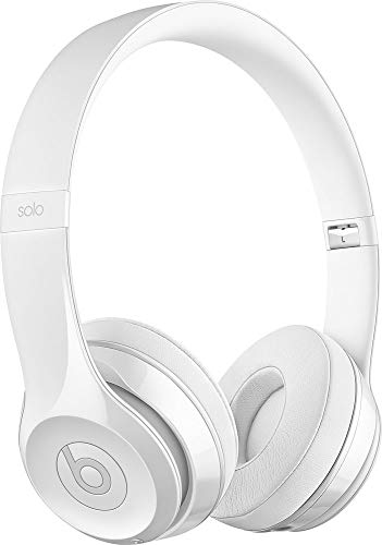 Beats Solo3 Wireless On-Ear Headphones Gloss White - Beats by Dr Dre (Renewed)