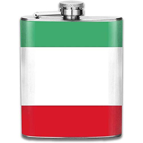 Flachmann Für Schnaps Italienische Flagge Whiskyflasche Für Schnaps Für Männer Und Frauen Auslaufsicherer Flachmann Aus Edelstahl