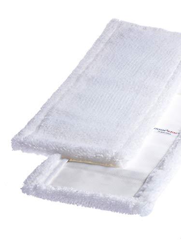 1a Profiline Microfasermopp Wischmopp Ultra weiss mit Taschen 40 cm (5 Stück) Profi für Gewerbe und Haushalt Microfaser-Mopp Moppbezug Bodenwischer Ersatzbezug für handelsübliche Mopp-Halter Klapp-