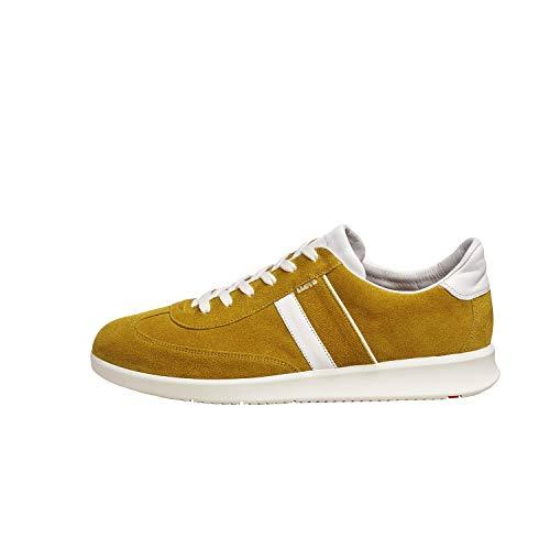 LLOYD Herren Sneaker Burt, Männer Low-Top Sneaker,lose Einlage,Business,Freizeit,maennlich,Men,Man,Halbschuh,Giallo/White/Giallo,43 EU / 9 UK