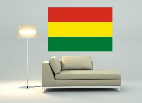 Kiwistar Wandtattoo Sticker Fahne Flagge Aufkleber Bolivien 80 x 55cm