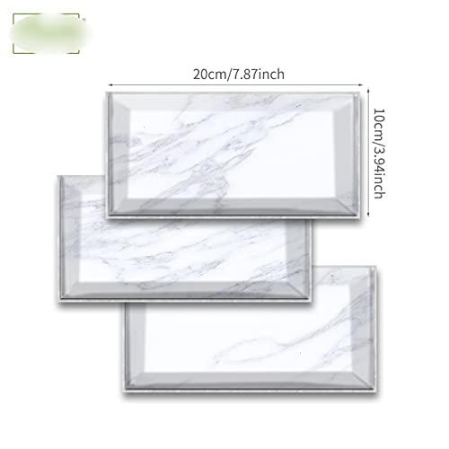 Pegatina de azulejo de mármol Blanco y Negro Etiqueta de Pared Papel Tapiz de Pantalla a Prueba de Aceite Peel & Stick para baño Cocina Backsplash Piso