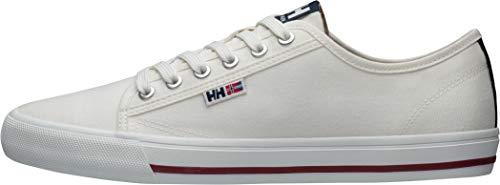 Helly Hansen Fjord Canvas Shoe V2, Zapatillas para Hombre, Blanco (Off White/Navy/Plum 011), 43 EU