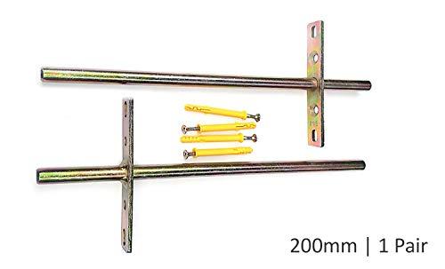 B&Z - Soporte para estante flotante oculto, invisible y oculto, resistente, 2 unidades, 200 mm (BackRod 45mm)