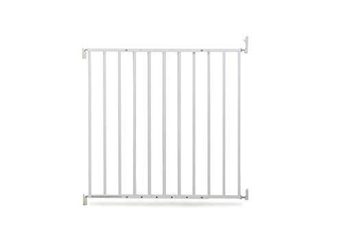 Geuther 4710 WE 4710 Grille de protection de porte pivotante en métal sans barrière, plage de réglage de 60 à 107 cm, blanc, 3,64 kg