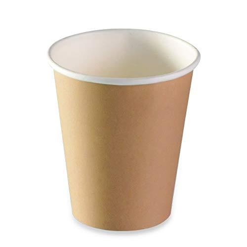 LE PETIT FOURNISSEUR   500 Gobelets Carton Brun 17cl   100% Recyclable   Boissons Chaudes ou Froides