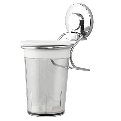 LEVERLOC Porta Cepillos de Dientes con Ventosas – Soporte Cepillo Dientes para Colocar en la Pared sin perforar, Vaso para Cepillos Dentales