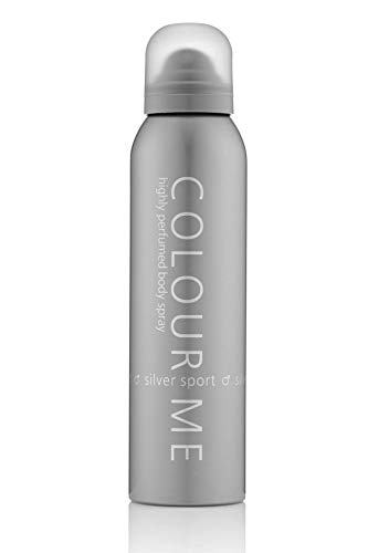 Colour Me Silver Sport - Fragrance for Men - 150ml Body Spray, by Milton-Lloyd