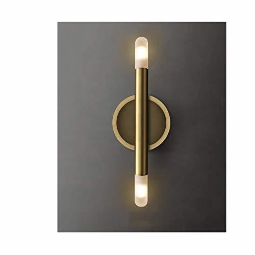 Aplique de Pared Lámparas de vanidad de 2 luces, 2 accesorios de pared de oro claro, accesorios de luz retro, luz de doble pared industrial moderna, lámpara de pared de mediados de siglo para baño, do