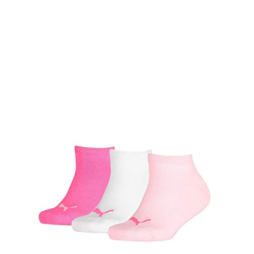 Puma Kids Sneaker Invisible 3Pack, Größe:23-26, Farbe:Pink Lady (422)