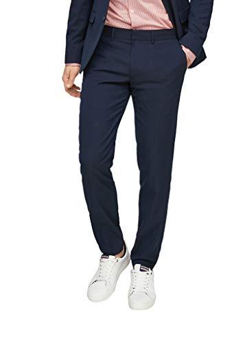 s.Oliver BLACK LABEL Herren Slim: Anzughose mit Stretchkomfort dark blue 48
