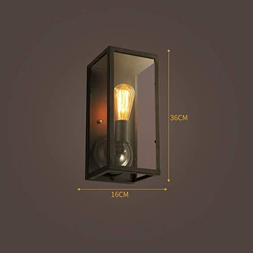 Wandlantaarn, kristal, wandlamp, spiegel, gevel, vintage, wandverlichting van smeedijzer, nachtkastje, glas, decoratieve industriële Cxff, MM 1 exemplaar