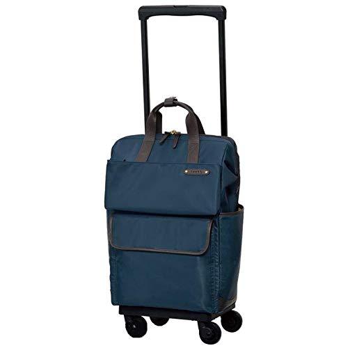 [スワニー] キャリーバッグ D-370 カルポ (L21) ネイビー(4輪ストッパー付)三愛オリジナル折りたたみサブバッグ付