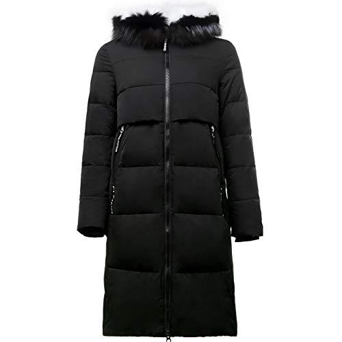 VIVIANE Daunenjacke, 2019 Herbst Und Winter-Anti-Saison Big Kragen Daunenjacke, Frauen Langer Abschnitt Dünne Thick Fashion Warm Jacke (Color : Black, Size : 175/96A)