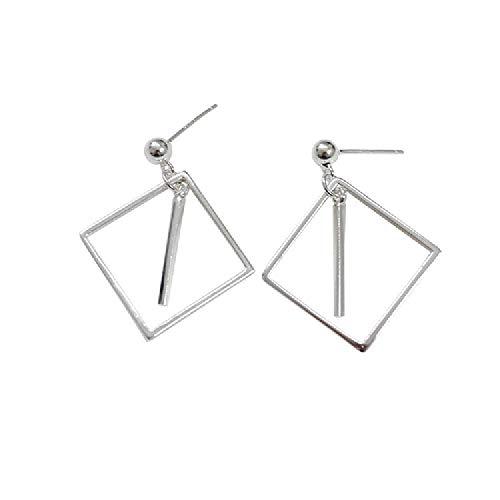 günstig Einfache Mode personalisierte Ohrringe für Mädchen und Frauen Geometrie 4-seitige quadratische gestreifte Ohrringe… Vergleich im Deutschland