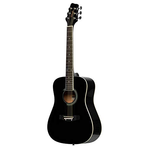 Stagg 3/4 Size Dreadnought Acoustic Guitar - Black - Left Handed