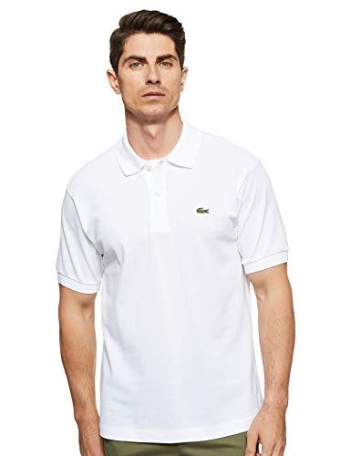 Lacoste Men's Short Sleeve L.12.12 Pique Polo Shirt, White, S