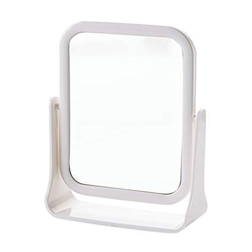 C-J-Xin Miroir de Maquillage Double Face, Miroir Rotatif en Plastique Miroir Multifonctionnel de Maquillage Miroir Chambre beauté dortoir Miroir Miroir de Maquillage (Couleur : B)