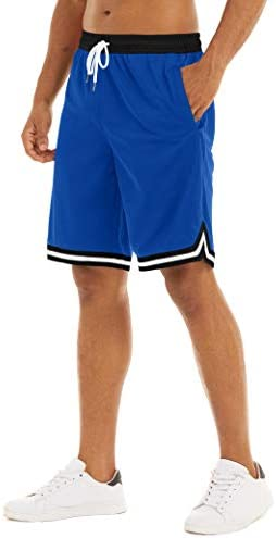 MAGNIVIT Men's Mesh Basketball Shorts Athletic Gym Workout Running Short with Zipper Pockets