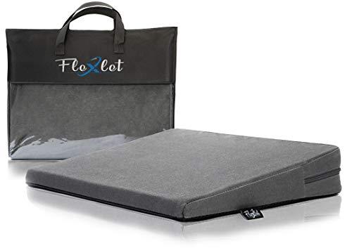 Flexlet ® Keilkissen – versch. HÄRTEGRADE FÜR Dein KÖRPERGEWICHT, 100% Baumwollbezug, geeignet für alle Stühle & Home Office, Dunkelgrau – Sitzkissen – Sitzkeilkissen - Sitzkeil [90-120kg]