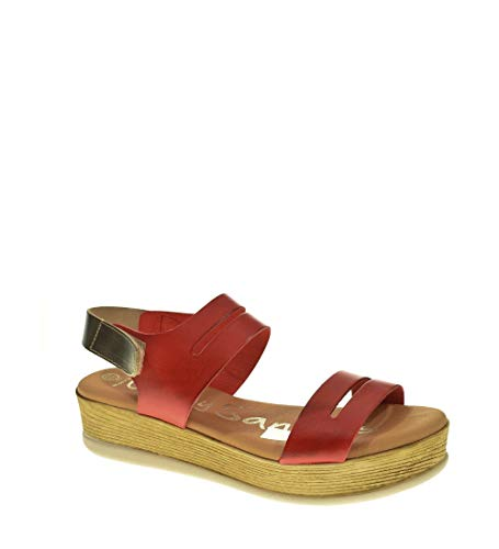Sandalia CUÑA - Mujer - Rojo - oh my sandals - 4341
