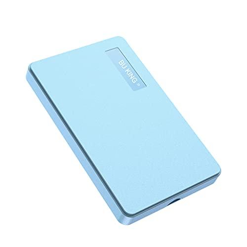 BU KING Disco rigido esterno USB3.0 500 GB HDD Disco rigido esterno portatile PC Mac Desktop Notebook Computer-Blu