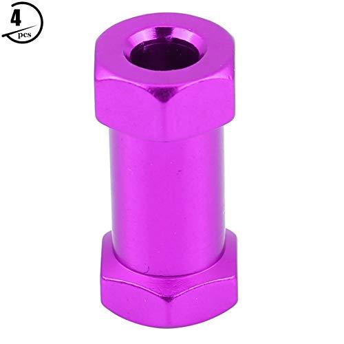 CHICIRIS Adaptador hexagonal de 12 mm, adaptador de cubo de rueda RC rendimiento mejorado para jugador para viajero para aficionado para el hogar (25 mm púrpura)