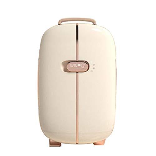 JTJxop Mini Nevera para El Cuidado De La Piel, Mini Refrigerador, Frigorífico Doble Puerta 12L, para Cuidado De La Piel, Alimentos, Medicamentos, Hogar y Viajes,Blanco