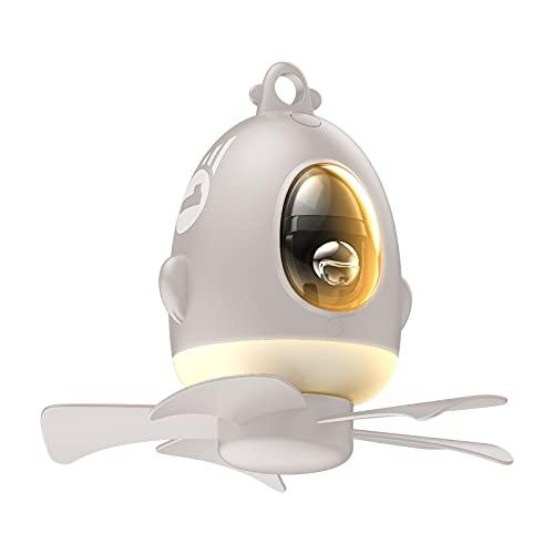 ZXIN Ventilador de Techo con Luz con Luz de Noche LED,Luz Velocidad del Viento Ajustable Control Remoto Ultra Silencioso Ventilador De Candelabros Luces Children's Day 8000 mAhwhite-Upgrade