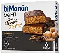BiManán beFIT - Barritas de Proteína Sabor Chocolate Naranja, para Tonificar tu Masa Muscular - Caja de 6 unidades