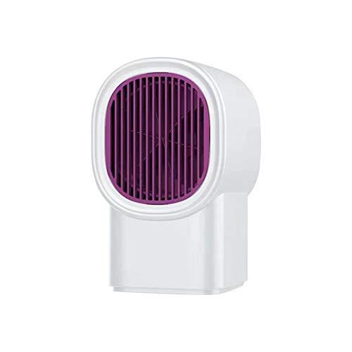 ISAKEN Mini Ventilador Calefactor, Ventilador de calefacción de Escritorio Hogar, 500W Tranquila Calentador Portátil para Cuarto Baño Oficina