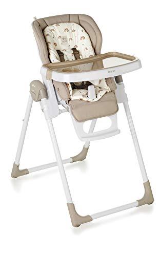 Jané Mila Hochstuhl, zusammenklappbar, 0 bis 36 Monate, 6 verstellbare Rückenlehne, 7 Höhen, abnehmbarer Tablett, inklusive Verkleinerer, Unisex