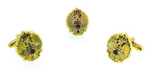 Gemelolandia | Pack Completo de Pin y Gemelos para camisa Fuerzas Armadas...