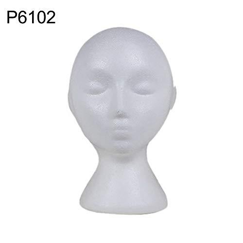 Walkretynbe hoofd model piepschuim etalagepop hoofd model zonnebril brilstandaard hoed kap display houder draagbaar eenkleurig