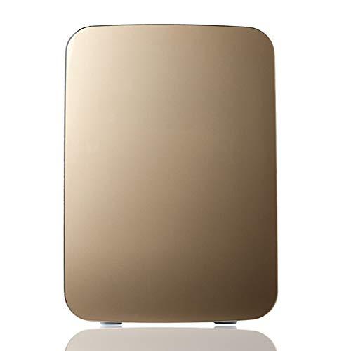 Addensante Frigorifero 10l Car Mini Piccola Famiglia di refrigerazione Dormitorio Dual-Heater Riscaldatore Quattro Colori 16 * 18 * 27 cm XMJ (Color : Gold)