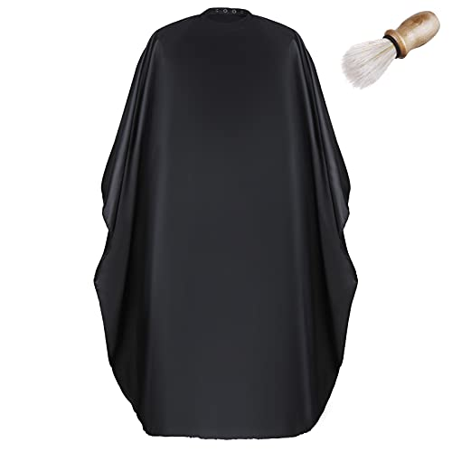 Lictin Capa de Peluquería-Ajustable Capa de Corte de Pelo Impermeable de Salón de Belleza para Corte de Pelo Adultos, con Hebilla Oculta y Cepillo para el Cuello