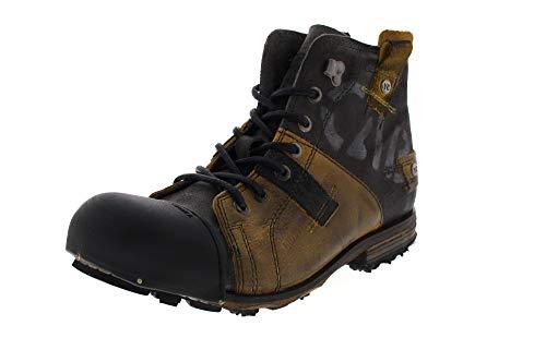 Yellow Cab Herren Industrial Biker Boots, Gelb (yellowblack 9001), 44 EU