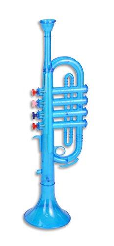 Bontempi–323869–Instrumento de música–Trompeta translúcido–Super Wings–Azul/Amarillo