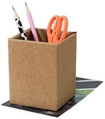 creativo multifunzione portapenne accessori per ordinare dimensioni: 8 x 8 x 10,5 cm; colore: arancione Portapenne creativo cancelleria organizer per ufficio portapenne da scrivania