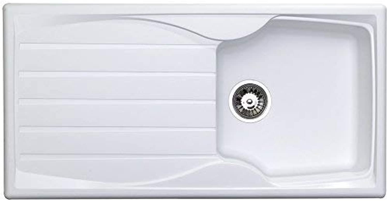 Astracast Sierra 1.0 Bowl Teflite Plastic White Kitchen Sink & Waste